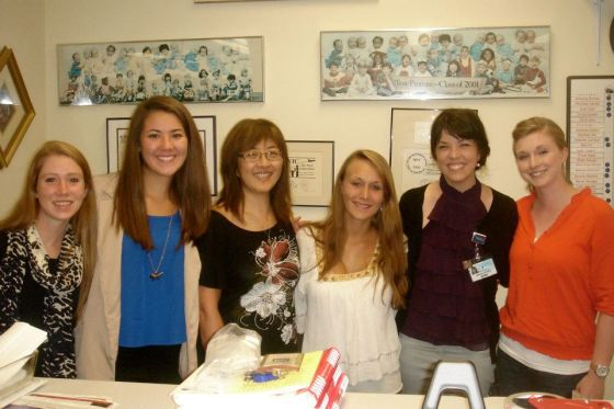 My group of five interns with our preceptor from the State WIC Agency - Shirley Sword.