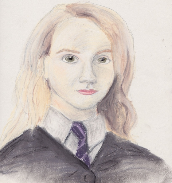 Fun fact about me - I'm a huge Harry Potter fan.  Here's an old pastel of Luna Lovegood (whom my dog is actually named after - told you, huge HP nerd.)