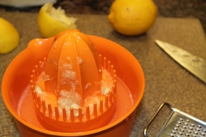 I used this easy citrus juicer to get all the juice out of my lemons.